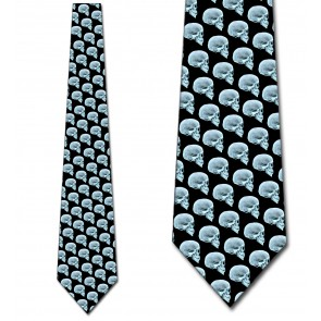 Skull X-Ray Repeat Necktie