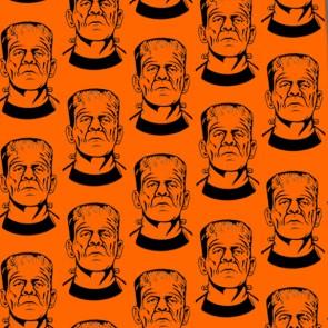 Frankenstein Repeat - Orange Necktie