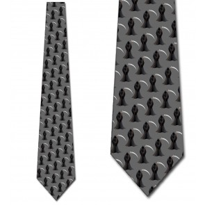 Grim Reaper Repeat - Gray Necktie