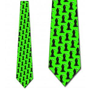 Grim Reaper Repeat - Neon Green Necktie