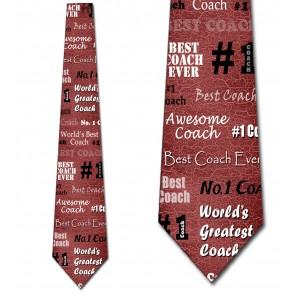 Number One Coach - Burgundy Necktie