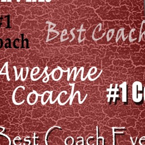 Number One Coach - Burgundy Necktie