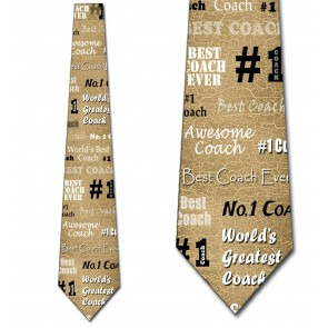 Number One Coach - Tan Necktie