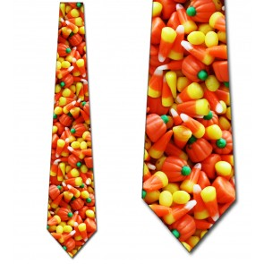 Candy Corn With Pumpkins Necktie