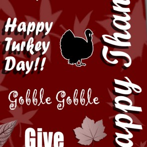 Happy Thanksgiving Collage- Maroon