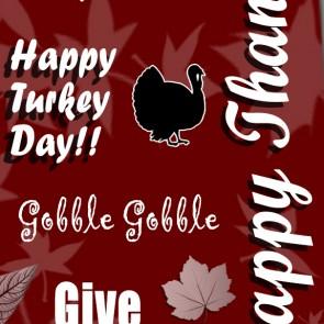 Happy Thanksgiving Collage- Maroon Necktie