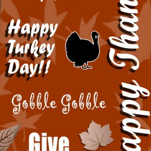 Happy Thanksgiving Collage - Burnt Orange