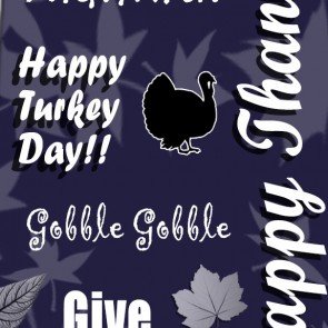 Happy Thanksgiving Collage - Navy