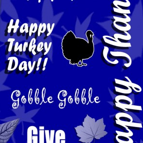 Happy Thanksgiving Collage - Royal Blue