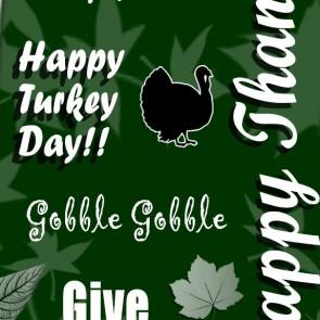Happy Thanksgiving Collage - Hunter Green Necktie