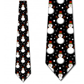 Snowman Repeat Necktie