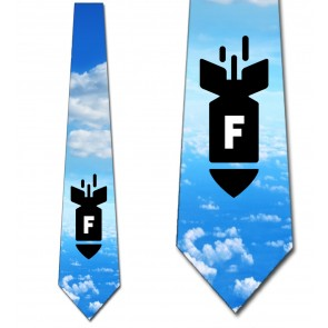 F-Bomb - Colored Sky Necktie