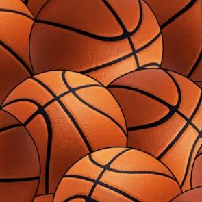 Basketballs Allover Black Necktie