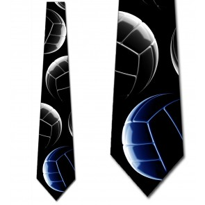 High Contrast Volleyball Stacked - (Blue) Necktie