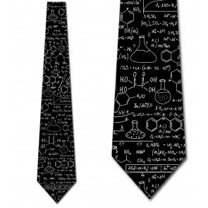 Chemistry Equations - Black Necktie