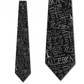 Algebra Allover Black Necktie