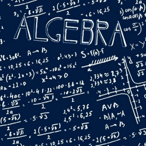Algebra Allover - Navy Necktie