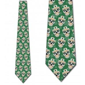 St. Patrick's Day Sugar Skulls Necktie