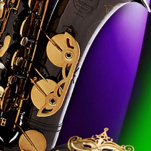 Mardi Gras Mask and Saxophone Necktie