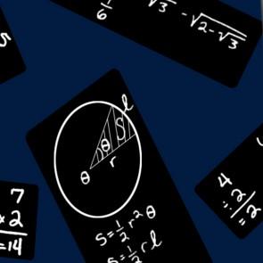 Chalkboard Repeat Black on Blue Necktie