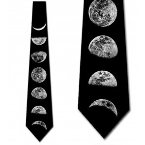 Phases of the Moon Necktie