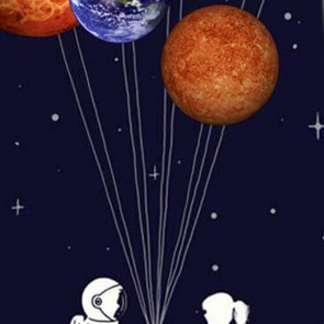 Space Balloons Necktie