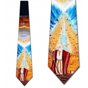 Moses Parting the Red Sea Necktie