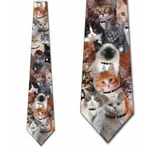 Easter Cat Collage Necktie