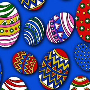 Easter Eggs Allover (Blue) Ties Necktie