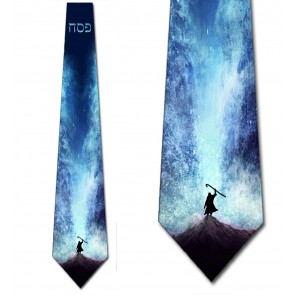 Passover Moses Parting the Red Sea Necktie