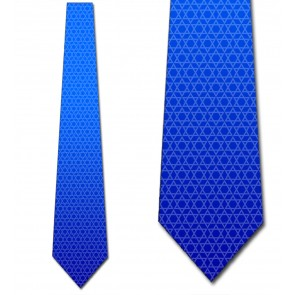 Star of David - Subtle White on Blue Ombre Ties Neckties