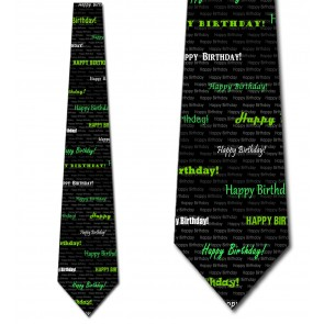 Happy Birthday - Green Necktie