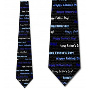 Happy Father's Day - Shades of Blue Necktie