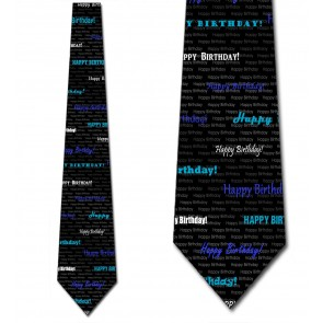 Happy Birthday - Blue Necktie