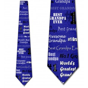 World's Greatest Grandpa - Royal Blue Necktie