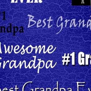 World's Greatest Grandpa - Royal Blue Necktie