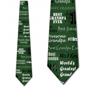 World's Greatest Grandpa - Green Necktie
