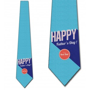 Happy Father's Day - Retro Blue Necktie