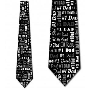 Number One Dad - Black Necktie