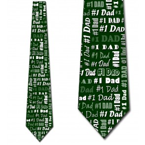 Number One Dad - Green Necktie