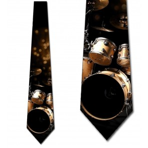 Golden Drums Necktie