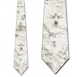 Da Vinci's Drawings Collage Necktie