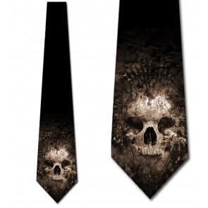 Fossilized Skull Necktie
