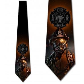 Fire Rescue Emblem Necktie