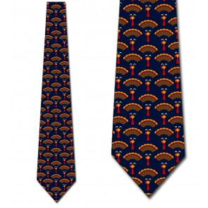 Turkey Time! - Navy Necktie
