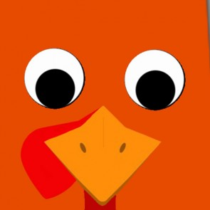 Tom the Turkey - Orange Necktie