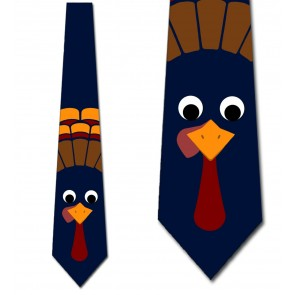Tom the Turkey - Navy Necktie