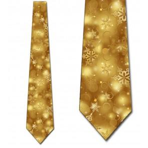 Winter Snowflake - Gold Necktie
