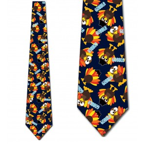 Thanksgiving Turkey Gobble - Navy Neckties