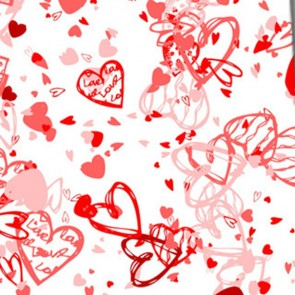 Valentine's Hearts Allover - Red Necktie